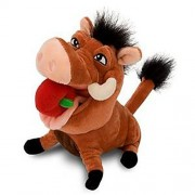 Disney's The Lion King Pumba Plush Toy w/Apple In His Mouth (7 Inch) by Disney