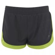 LIJA Women's Pursuit Run Lightly Shorts - Black/Fern - L