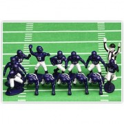 Kaskey Kids Football Guys Purple and White Mini Pack Figure Set