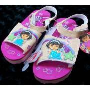 Nick Jr Dora the Explorer Kid Size 11-12 Shoes/sandles, Great for Halloween Costume