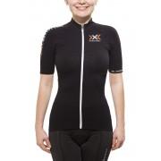 X-Bionic The Trick Biking Shirt Short Sleeves Full Zip Women Black/White M Velotrikots kurz sportiv