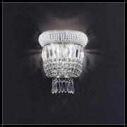 Luxus Kristall Wandleuchte Osaka rund Nickel Farbe silber Barock Lampe für Wa...