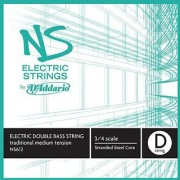 DAddario Ns Electric Traditional Bass Single D String 3/4 Scale Medium Tension