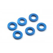 Fastrax Fast142-2 M3 Light blue alloy 1mm spacers 3mm hole (6)