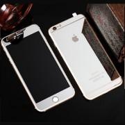 Folie Sticla iPhone 6S Plus iPhone 6 Plus Set 2 Buc Fata si Spate Mirror Argintie Silver Protectie Antisoc Tempered Glass