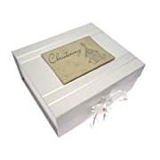 White Cotton Cards Christening Church A5 Keepsake Box
