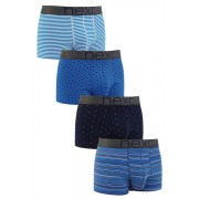 Mens Next Blue Fashion Mixed Hipsters Four Pack - Blue
