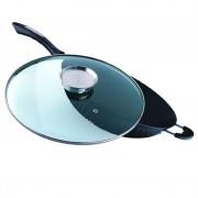 Tigaie wok Peterhof, fonta, 32 cm, capac inclus