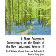 A Short Protestant Commentary on the Books of the New Testament, Volume III by Paul Wilhelm Schmidt