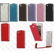 "Apple iPhone 5 (кожен калъф) ""O.M.G""carbon"