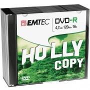 Set Discuri Recordable 10 Bucati DVD-R 4.7GB EMTEC