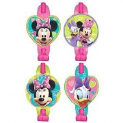 Disney Minnie Mouse Blowouts Birthday Party Toy Noisemaker Favour and Prize Giveaway (8 Pack) Multi Color 5 5 8 x 3 1