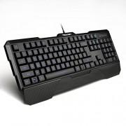 Tecknet X861 Kraken Illuminated Gaming Keyboard/Mouse Combo, 3 Color Adjustable Breathing Light, Game Lock Key, 6 Multimedia Keys, Upto 2000 DPI Mouse, Water Resistant
