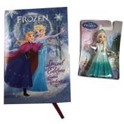 "Little Girl Gift Bundle 2 Items: Mattel Disney Elsa Figure And Disney Frozen Junior Novelization ""Special Edition"" Book"