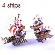 3D Jigsaw Puzzle Ship Series 4 Ships DIY Models B368-16