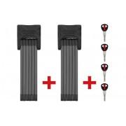 ABUS Bordo 6000/90 TwinSet Faltschloss schwarz 2017 Faltschlösser
