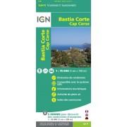 Fietskaart - Wandelkaart 30 Top75 Corsica: Bastia - Corte - Cap Corse | IGN