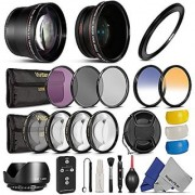 67MM Complete Kit for CANON Rebel T5i T4i T3i T2i EOS 700D 650D 600D 550D 70D with a 18-135MM Zoom Lens - Includes Altura Photo 0.45X Wide Angle and 2.2X Telephoto High Definition Lenses + IR Wireless Remote Control + Vivit