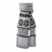 Mike Scarf (heather grey) - wzór norweski