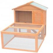 vidaXL VidaXL Клетка за зайци и дребни животни, дворна, дървена