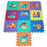 Babyland TLCmat? Soft Foam Play Mat Puzzle with Animal and Transportation Pop-Out