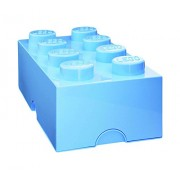 Lego Storage Brick Lunch Box 8, Plastica, Azzurro, 25x25x18 cm
