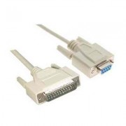 CABLE SERIE NULL MODEM DB9H DB25M 1 8 M
