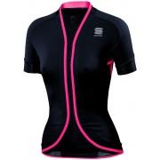 Sportful Stella Jersey Women black/coral pink L Bike Trikots