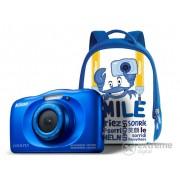 Nikon Coolpix W100, albastru + rucsac