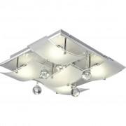 NOVEL LED-DECKENLEUCHTE, Glas, Metall, 42x42x13 cm