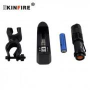 KINFIRE SK88 Q5 LED 280lm 3-Modo Luz zoom linterna de la bicicleta w / Clip / AA cargador de bateria