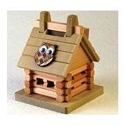 Log House - Kumiki 3d Piggy Bank Wooden Puzzle by Winshare Puzzles and Games