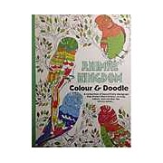 Adult colouring book. Animal Kingdom. Colour & Doodle