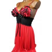Afrodita košilka s tangy L červená