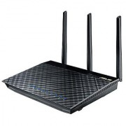 ASUS AC1750 Wireless Dual Band (5GHz + 2.4GHz) Gigabit Wi-Fi Router [RT-AC66U] 802.11ac 1750 Mbps Speed 4x Gigabit LAN Ports 256MB AiProtection AiCloud File Sharing AiRadar Signal Optimization