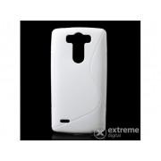 Husă Gigapack din cauciuc/silicon pentru LG G3 S (D722), alb (conform producătorului)