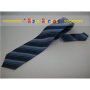 Dark Striped Thai Silk Mens Neck Tie Inexpensive Quality