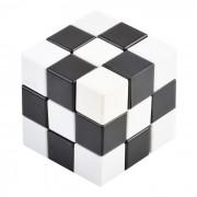 Irregularly Shaped 3D IQ Cube - White + Black