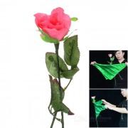 Magia Flotable artificiales de plastico Rose + bufanda de seda - verde + rosa oscuro