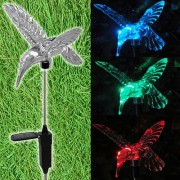 Luminária Solar para Jardim em PVC Beija-Flor 1380 2 Peças