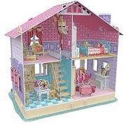 3D Jigsaw Puzzle Deram Dollhouse-Carries Home CubicFun 3D Puzzle P679h 93 Pieces Decorative Fashion Exiting Fun Educatio