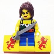 "Minifigure Packs: Lego Pirates Bundle ""(1) Pirate Christina Anna Skytte"" ""(1) Figure Display Base"" ""(1) Figure Accessory"""
