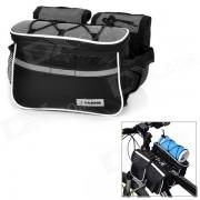 Yanho Multifunctional Bicycle Handlebar Mounted Storage Bag / Messenger Bag w/ Phone Case - Black