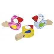Fa játék hangszer, madárkás mini trombita