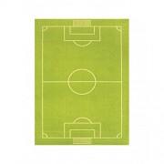 IVI hipoalergénica de los niños alfombra y alfombra (134 x 180 cm, tamaño grande, verde, campo de fútbol)
