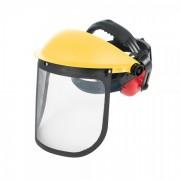Visière grillagée de forestier avec casque anti-bruit Silverline 140878