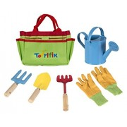 Little Gardener Tool Set With Garden Tools Bag For Kids Gardening - Kit Includes Watering Can