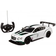 Toyhouse Officially Licensed Radio Remote Control Rastar Bentley Continental GT3 RC 1:14 Scale Car, White