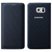 Husa textil Samsung Galaxy S6 edge G925 Wallet EF-WG925BB Bleumarin Blister Originala
