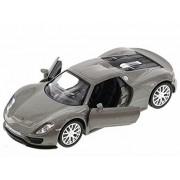 Porsche 918 Spyder, Silver Kinsmart 555030 1/36 Scale Collectible Model Toy Car